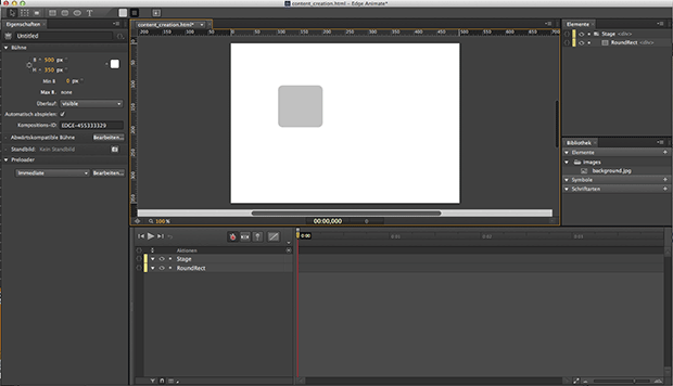Screenshot Edge Animate - Motion Design